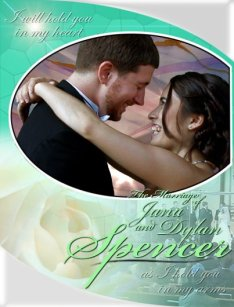 The front cover of a DVD I designed for a wedding videography company
