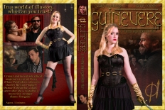 A DVD case designed for my advanced project, Guinevere