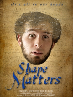 The poster I created for my thesis film, Shape Matters